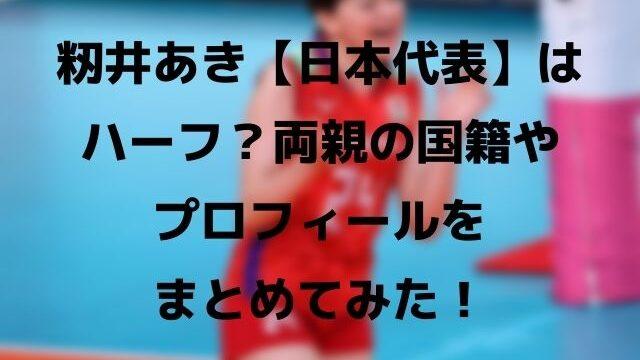 籾井あきトップ